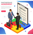 partnership handshake business mans b2b vector image