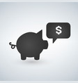 piggy bank icon investment concept with money vector image vector image