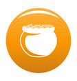 pot coin icon orange vector image vector image