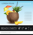 realistic beach party concept vector image