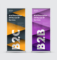 roll-up banner templates with intersecting vector image vector image