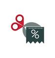scissors cut coupon offer business commerce vector image