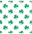 Seamless watercolor pattern with clover leaves on vector image