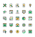 SEO and Marketing Colored Icons 3 vector image vector image