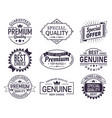 set isolated retro brand logo product sign vector image vector image