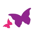 Silhouette of butterfly vector image vector image