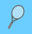 simple flat style tennis racket sport graphic vector image