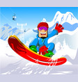 snowboard up vector image
