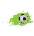 soccer ball icon with an effect vector image vector image
