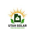 solar power grid logo vector image
