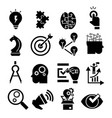 solution icon set simple style vector image vector image