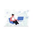 steps online shopping vector image