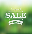 Summer Sale Poster With Bokeh vector image vector image