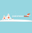 template for christmas sale and special offers vector image