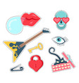 trendy patches badges vector image