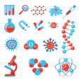 trendy science icons vector image