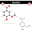 Vanillin - chemical formula vector image vector image