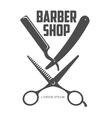 vintage barber shop logos labels badges design vector image vector image