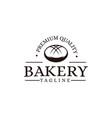 vintage retro hipster label emblem logo bakery vector image vector image