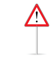 warning traffic sign vector image