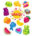 jelly candy set vector image