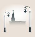 moscow cityscape skyline vector image
