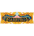 carnival banner circus template vector image