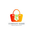 sale discount bag logo design vector image