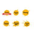 honey or juice labels or badge set vector image