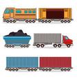 set of means of transportation vector image