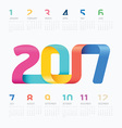 2017 Calendar colorful ribbon concept vector image vector image