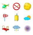 aisle icons set cartoon style vector image vector image