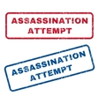 Assassination Attempt Rubber Stamps vector image vector image