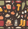 autumn season icons symbol vector image