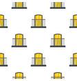 balcony with iron railing i pattern flat vector image vector image