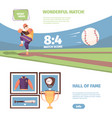 baseball game banner exciting national game of vector image