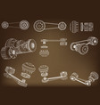 belt gear vector image vector image
