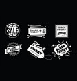 big sale fifty percent on black friday shopping vector image vector image