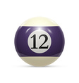 Billiard twelve ball isolated on a white vector image vector image
