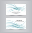 blue soft line wave banner set vector image vector image