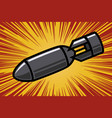 bomb in comic book style design element vector image