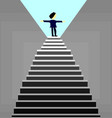 business man standing on top of the stairssuccess vector image