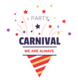 carnival party isolated icon birthday cone hat and vector image vector image
