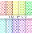 Chess plaid seamless patterns Endless texture vector image vector image