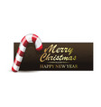 christmas banner with xmas candy cane vector image vector image