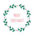 christmas isolated wreath vector image