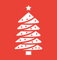 christmas tree glyph icon new year and christmas vector image vector image
