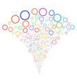 circle bubble fountain stream vector image vector image