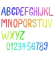 Colorful watercolor font aquarelle vector image vector image