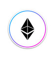 cryptocurrency coin ethereum eth icon on white vector image vector image